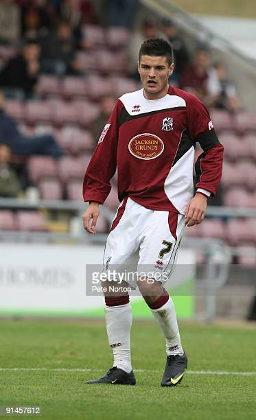 Ben Marshall of Northampton Town in action during the Coca Cola League Two Match between Northampton Town and Bradford City at Sixfields Stadium on...