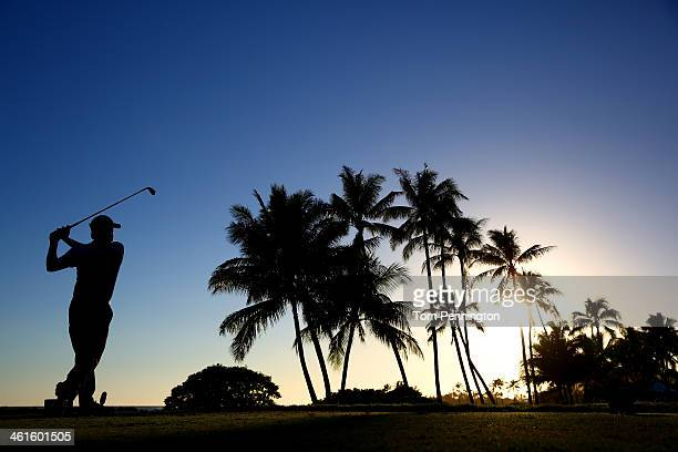 Ben Martin hit a tee shot on the 17th hole during round one of the Sony Open in Hawaii at Waialae Country Club on January 9 2014 in Honolulu Hawaii