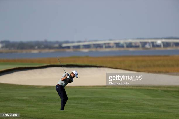 Ben Martin of the United States plays a shot on the fifth hole during the second round of The RSM Classic at Sea Island Golf Club Seaside Course on...