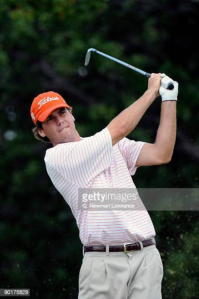 Ben Martin watches a tee shot during the Semifinals of the U.S. Amateur Golf Championship on August 29, 2009 at Southern Hills Country Club in Tulsa,...