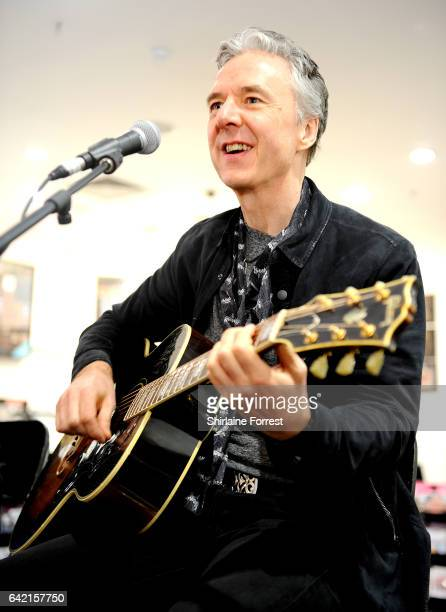 Ben Matthews of Thunder performs live and signs copies of their new album 'Rip it Up' at HMV Manchester on February 16, 2017 in Manchester, United...
