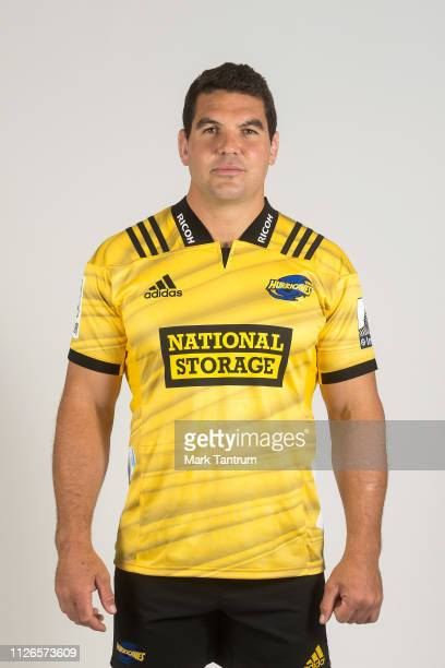 Ben May poses during a Hurricanes Super Rugby headshots session on February 01 2019 in Wellington New Zealand