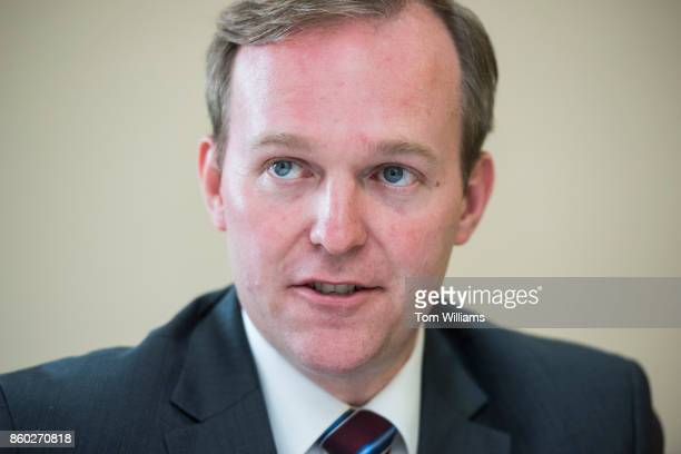 Ben McAdams Democratic candidate for Utah's 4th Congressional District is interviewed at the DNC on October 11 2017