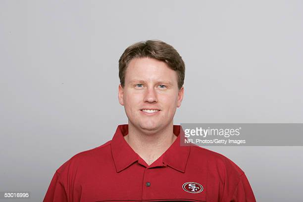 Ben McAdoo of the San Francisco 49ers poses for his 2005 NFL headshot at photo day in San Francisco California