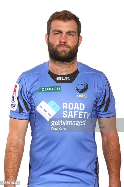 Ben McCalman poses during a Western Force Super Rugby headshots session at the Rugby WA office on April 27 2017 in Perth Australia