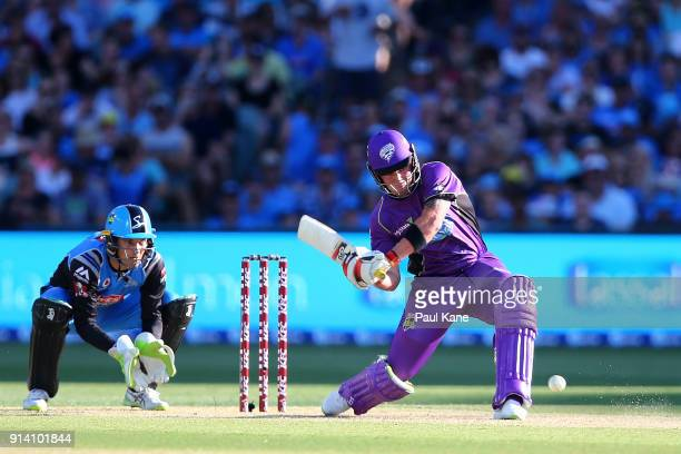 Ben McDermott of the Hurricanes bats during the Big Bash League Final match between the Adelaide Strikers and the Hobart Hurricanes at Adelaide Oval...