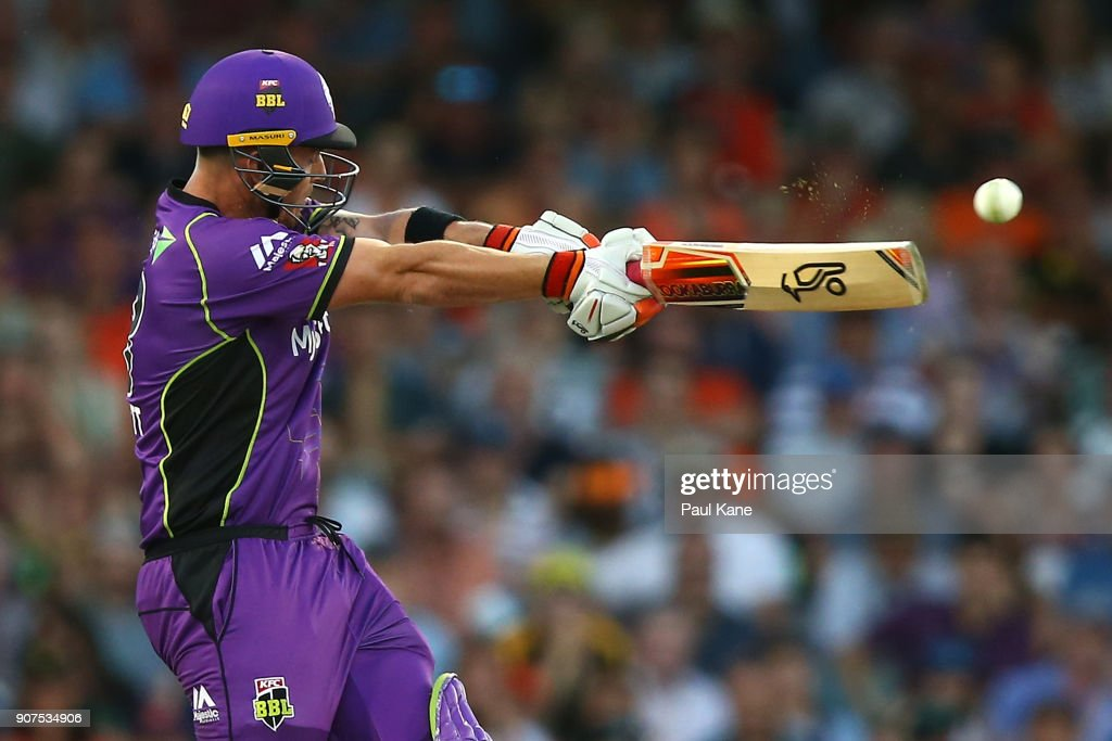 Ben McDermott of the Hurricanes bats during the Big Bash League match between the Perth Scorchers and the Hobart Hurricanes at WACA on January 20, 2018 in Perth, Australia.