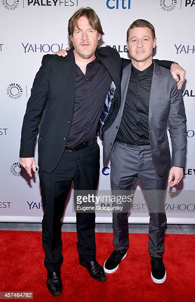Ben McKenzie and Donal Logue attend the GOTHAM Panel At PaleyFest NY on October 18 2014 in New York City