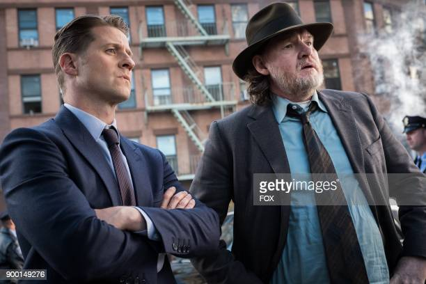 Ben McKenzie and Donal Logue in the A Dark Knight A Day in the Narrows episode of GOTHAM airing Thursday Nov 2 on FOX