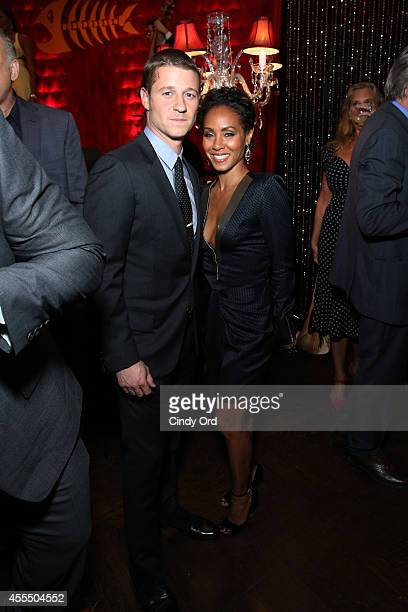 Ben McKenzie and Jada Pinkett Smith attend the GOTHAM Series Premiere event on September 15 2014 in New York City