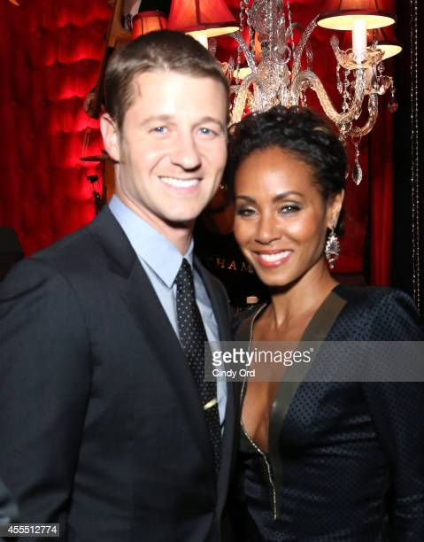 Ben McKenzie and Jada Pinkett Smith attend the GOTHAM Series Premiere event on September 15 2014 in New York City