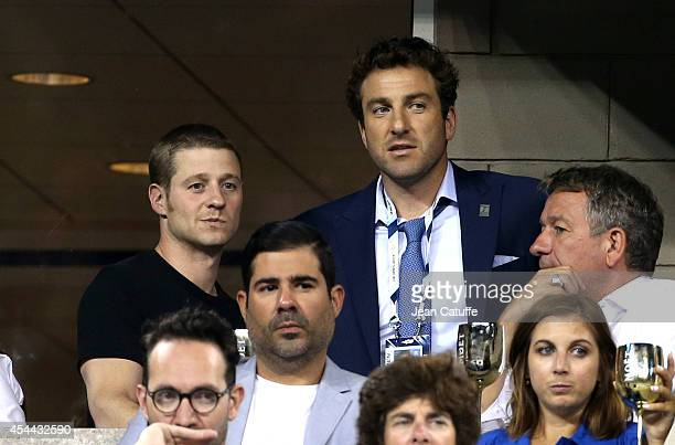 Ben McKenzie and Justin Gimelstob attend Day 6 of the 2014 US Open at USTA Billie Jean King National Tennis Center on August 30 2014 in the Flushing...