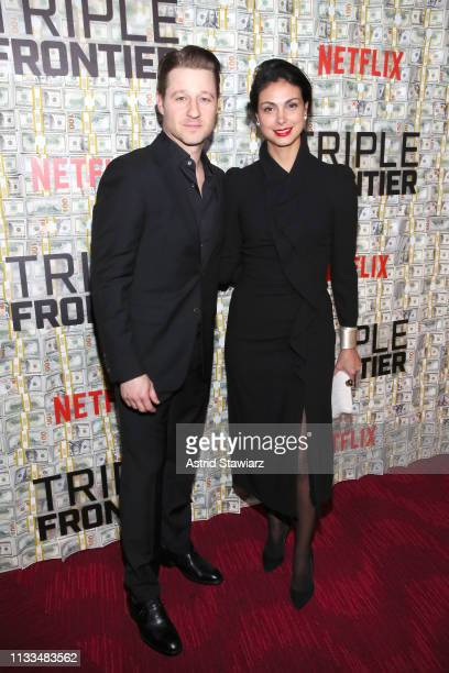 Ben McKenzie and Morena Baccarin attend Netflix World Premiere of TRIPLE FRONTIER at Lincoln Center on March 03, 2019 in New York City.
