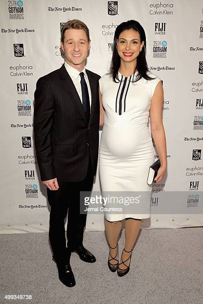 Ben McKenzie and Morena Baccarin attend the 25th IFP Gotham Independent Film Awards cosponsored by FIJI Water on November 30 2015 in New York City