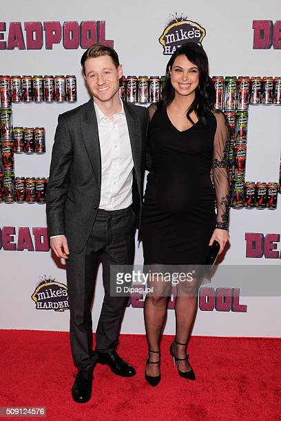 Ben McKenzie and Morena Baccarin attend the 'Deadpool' fan event at AMC Empire Theatre on February 8 2016 in New York City