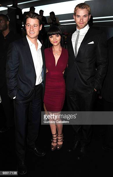 Ben McKenzie Christina Ricci and Kellan Lutz attends 'The Art of Progress' world premiere of the new Audi A8 at the Audi Pavilion on November 30 2009...