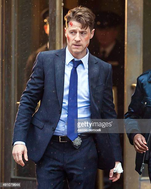 Ben McKenzie is seen filming 'Gotham' on October 2 2015 in New York City
