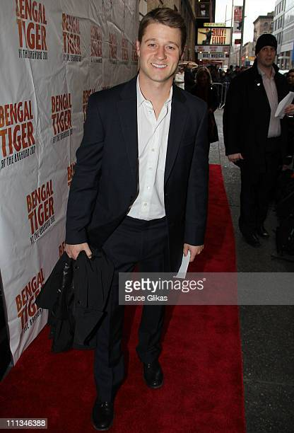 Ben McKenzie poses at The Opening Night of Bengal Tiger at the Baghdad Zoo on Broadway at Richard Rodgers Theatre on March 31 2011 in New York City