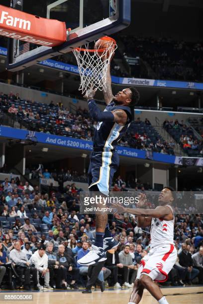 Ben McLemore of the Memphis Grizzlies drives to the basket against the Toronto Raptors on December 8 2017 at FedExForum in Memphis Tennessee NOTE TO...