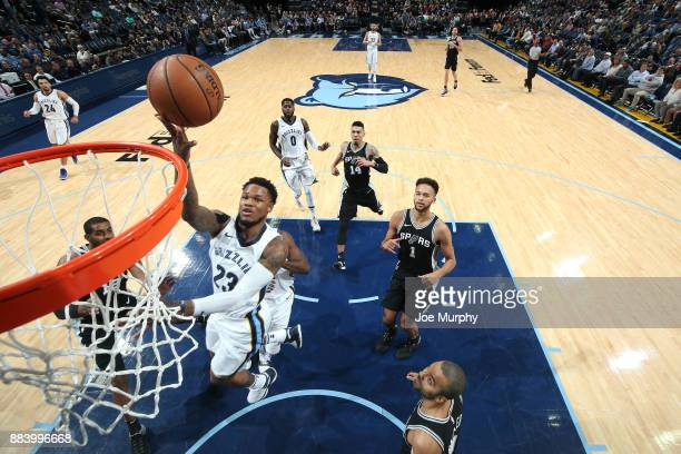 Ben McLemore of the Memphis Grizzlies dunks against the San Antonio Spurs on December 1 2017 at FedExForum in Memphis Tennessee NOTE TO USER User...