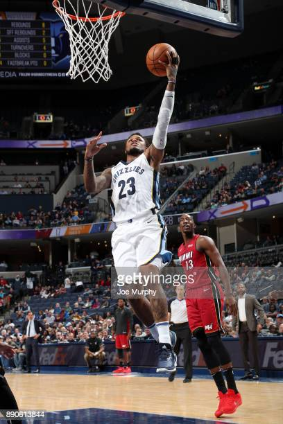 Ben McLemore of the Memphis Grizzlies goes to the basket against the Miami Heat on December 11 2017 at FedExForum in Memphis Tennessee NOTE TO USER...