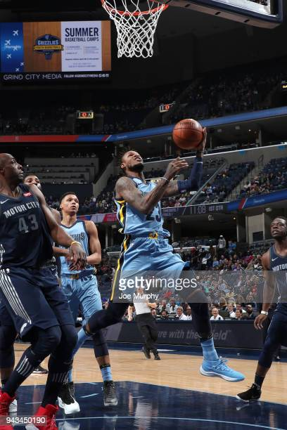 Ben McLemore of the Memphis Grizzlies goes to the basket against the Detroit Pistons on April 8 2018 at FedExForum in Memphis Tennessee NOTE TO USER...