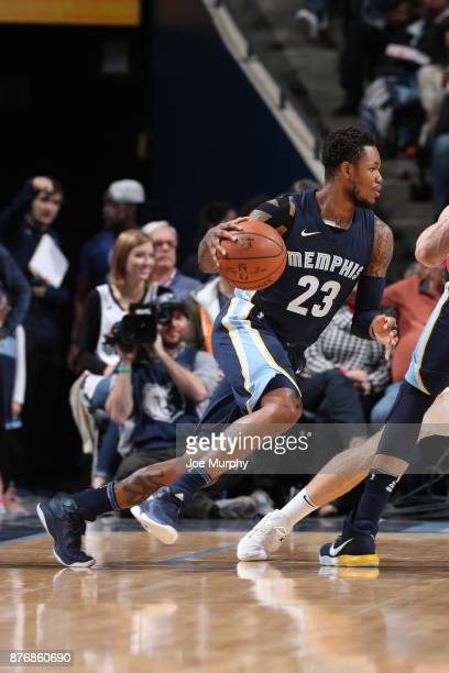Ben McLemore of the Memphis Grizzlies handles the ball against the Portland Trail Blazers on November 20 2017 at FedExForum in Memphis Tennessee NOTE...