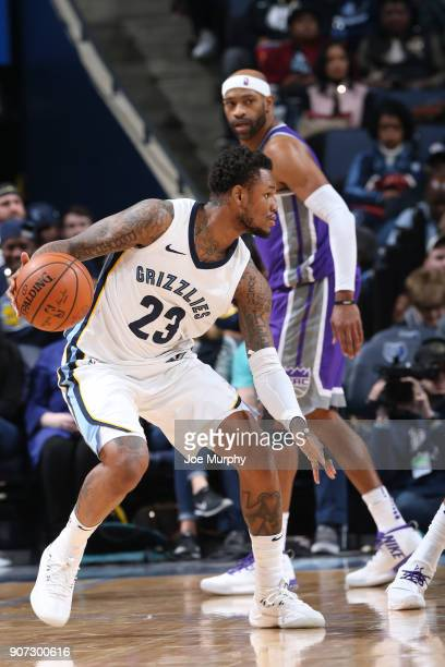 Ben McLemore of the Memphis Grizzlies handles the ball against the Sacramento Kings on January 19 2018 at FedExForum in Memphis Tennessee NOTE TO...