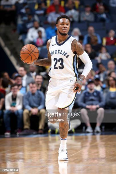 Ben McLemore of the Memphis Grizzlies handles the ball during the game against the Minnesota Timberwolves on December 4 2017 at FedEx Forum in...