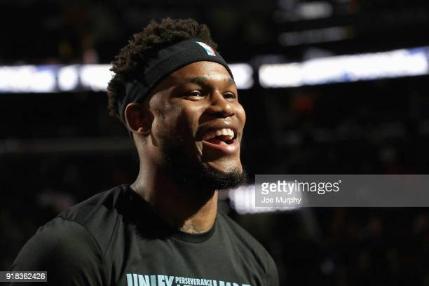Ben McLemore of the Memphis Grizzlies looks on before the game against the Oklahoma City Thunder on February 14 2018 at FedExForum in Memphis...