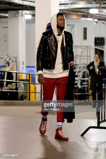 Ben McLemore of the Sacramento Kings arrives to the game against the Indiana Pacers on December 8 2018 at Bankers Life Fieldhouse in Indianapolis...