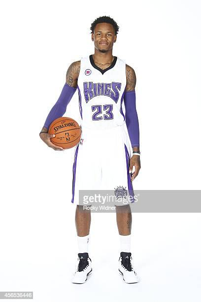 Ben McLemore of the Sacramento Kings poses for a photo on media day September 26 2014 at the Kings practice facility in Sacramento California NOTE TO...