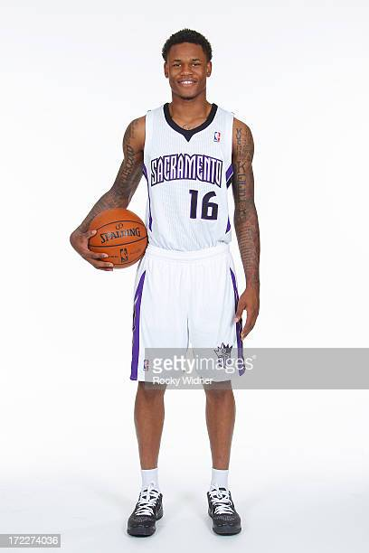 Ben McLemore of the Sacramento Kings selected by the Kings in the 2013 NBA Draft poses for a photo on July 1 2013 at Sleep Train Arena in Sacramento...