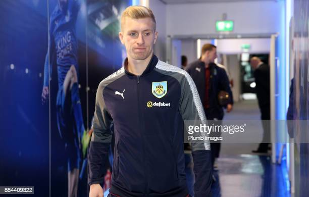 Ben Mee of Burnley arrives at King Power Stadium ahead of the Premier League match between Leicester City and Burnley at King Power Stadium on...
