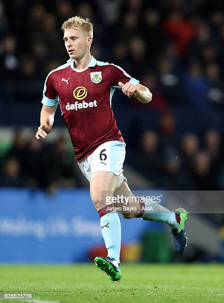 Ben Mee of Burnley during the Premier League match between West Bromwich Albion and Burnley at The Hawthorns on November 21 2016 in West Bromwich...