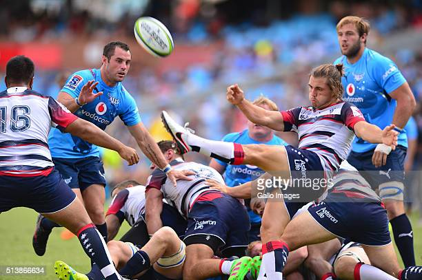 Ben Meehan of the Rebels in action during the 2016 Super Rugby match between Vodacom Bulls and Rebels at Loftus Versfeld on March 05 2016 in Pretoria...