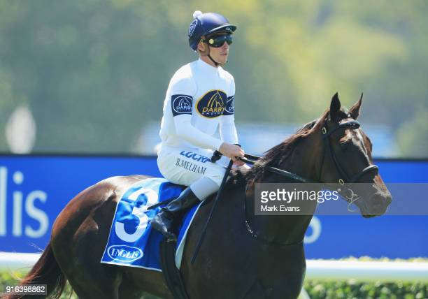 Ben Melham on She Will Reign returns to scale after winning race 3d uring Sydney Racing at Warwick Farm on February 10 2018 in Sydney Australia