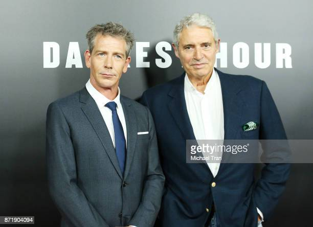 Ben Mendelsohn and Michael Nouri arrive to the Los Angeles premiere of Focus Features' 'Darkest Hour held at Samuel Goldwyn Theater on November 8...