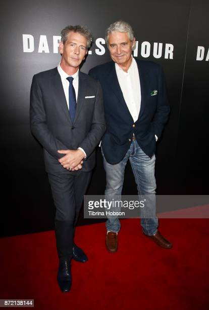 Ben Mendelsohn and Michael Nouri attend the premiere of Focus Features 'Darkest Hour' at Samuel Goldwyn Theater on November 8 2017 in Beverly Hills...