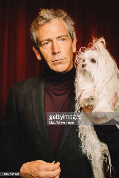 Ben Mendelsohn and Pepper pose for a portrait at the 'Ready Player One' Premiere 2018 SXSW Conference and Festivals at Paramount Theatre on March 11...