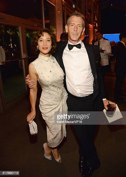 Ben Mendelsohn attends the 2016 Vanity Fair Oscar Party Hosted By Graydon Carter at the Wallis Annenberg Center for the Performing Arts on February...