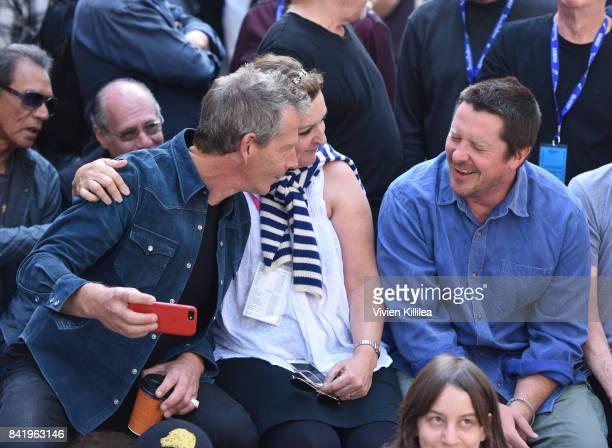 Ben Mendelsohn executive director of the Telluride Film Festival Julie Huntsinger and Christian Bale attend the Telluride Film Festival 2017 on...