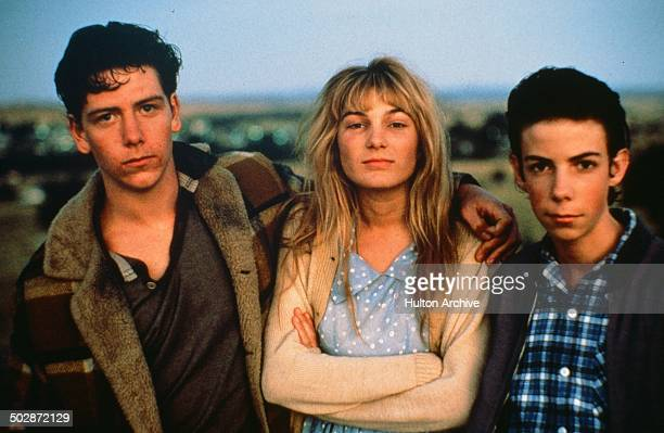 Ben Mendelsohn Loene Carmen and Noah Taylor pose for the movie'The Year My Voice Broke' circa 1987