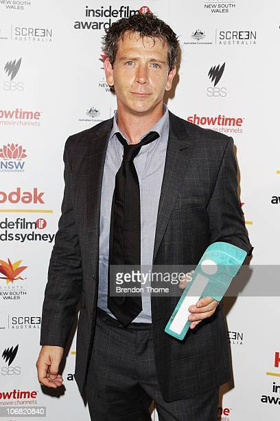 Ben Mendelsohn poses with his award for Best Actor at the 2010 Inside Film Awards at City Recital Hall on November 14 2010 in Sydney Australia