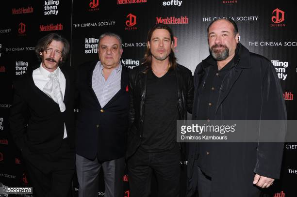 Ben Mendelsohn Vincent Curatola Brad Pitt and James Gandolfini attend The Cinema Society with Men's Health and DeLeon hosted screening of The...