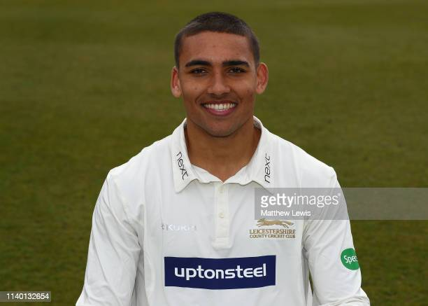Ben Mike of Leicestershire CCC pictured during the Leicestershire CCC Photocall at Grace Road on April 03, 2019 in Leicester, England.