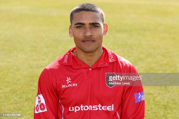 Ben Mike of Leicestershire CCC pictured during the Leicestershire CCC Photocall at Grace Road on April 03 2019 in Leicester England