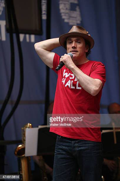 Ben Miles performs at United presents 'Stars in the Alley' in Shubert Alley on May 27, 2015 in New York City.