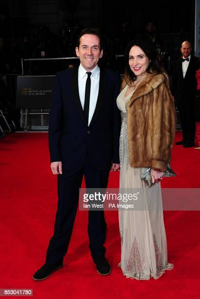Ben Miller and Jessica Parker arriving at The EE British Academy Film Awards 2014 at the Royal Opera House Bow Street London