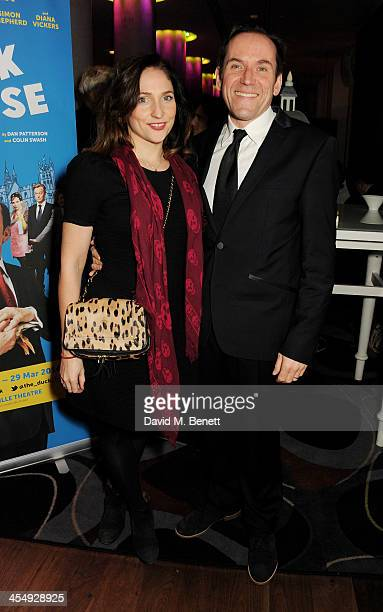 Ben Miller and Jessica Parker attend an after party celebrating the press night performance of The Duck House at The Trafalgar Hotel on December 10...